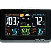 La Crosse Technology Wireless Atomic Digital Color Forecast Station with Alerts, Black (308-1414B)