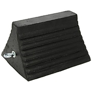 Checkers® Roadblock Rubber Wheel Chock With Bottom Void, Black