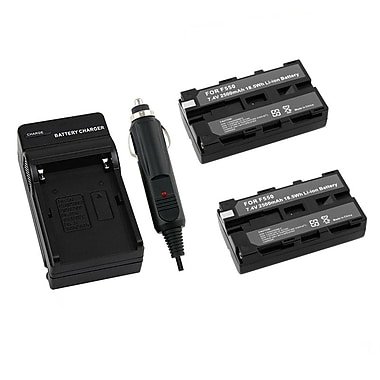 Insten® 2-Piece DV Battery Bundle For Sony NP-F550/NP-F330/NP-F750(204370)