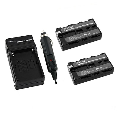 Insten® 204370 2-Piece DV Battery Bundle For Sony NP-F550/NP-F330/NP-F750