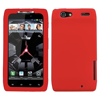 Insten Skin Cover For Motorola XT912 Droid RAZR, Solid Red (1018874)