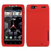Insten® Skin Cover For Motorola XT912 Droid RAZR, Solid Red