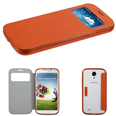 Insten® MyJacket With Gummy Case Tray For Samsung Galaxy S4, Orange/T-Clear