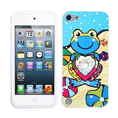 Insten Skin Cover For iPod Touch 5th Gen, Blue Lotus Frog (1015380)