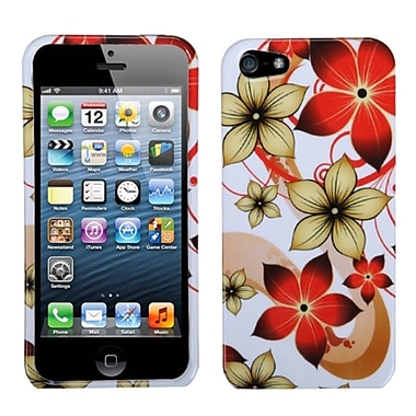 Insten® Phone Protector Cover F/iPhone 5/5S, Hibiscus Flower Romance