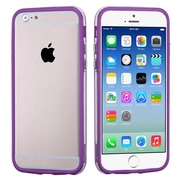"Insten® MyBumper Phone Protector Cover F/4.7"" iPhone 6, Purple/Transparent Clear"