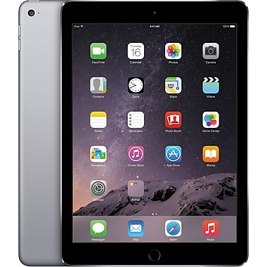 Open Box Apple iPad Air 2 with Cellular 64GB, Space Gray