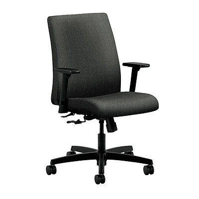 HON Ignition Fabric Computer and Desk Office Chair, Adjustable Arms, Gray (HONIT105AB12)
