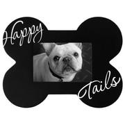 "Malden Dog Bone Shaped Happy Tails Wood Picture Frame, Black, 3.5"" x 5"""