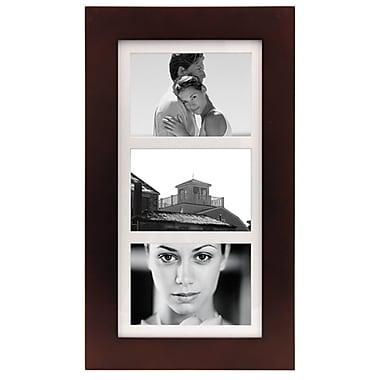 Malden Manhattan 3-Opening Wood Collage Picture Frame, Dark Walnut, 5