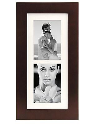 Malden Manhattan 2-Opening Wood Picture Frame, Dark Walnut, 5