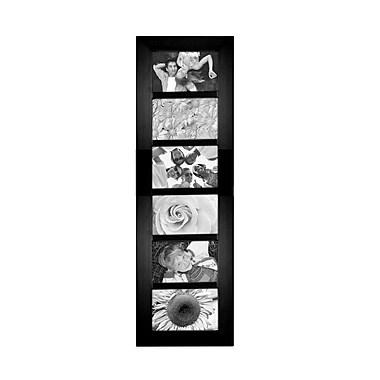 Malden Berkeley 6-Opening Beveled Edge Wood Collage Picture Frame, Black, 4