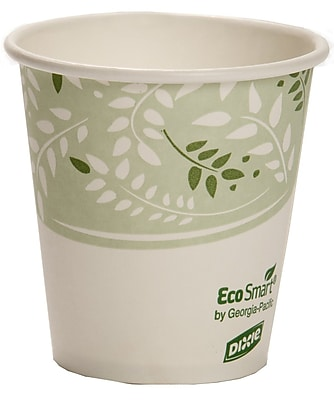 Dixie® Viridian® EcoSmart™ PLA-Lined Paper Hot Cup by GP PRO, 10 oz., 50/Pack (2340SPLA)