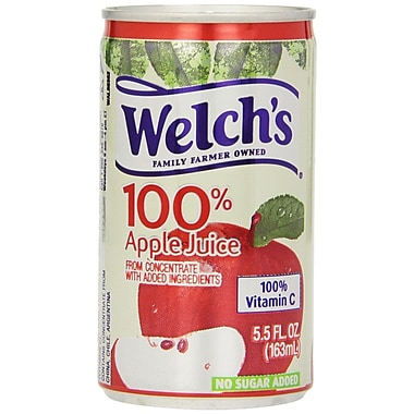 Welch's 100% Apple Juice 5.5 oz. Cans, 48/Case