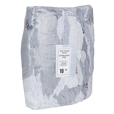Wiping Rags Recycled Grey Fleece, JD398, Description - Recycled Grey Fleece, 5/Pack
