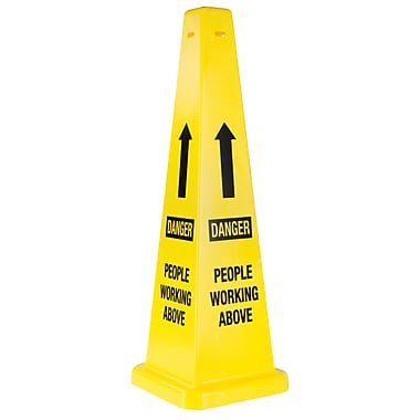 Traffic Cones, NC674, Message - Danger People Working Above, 2/Pack