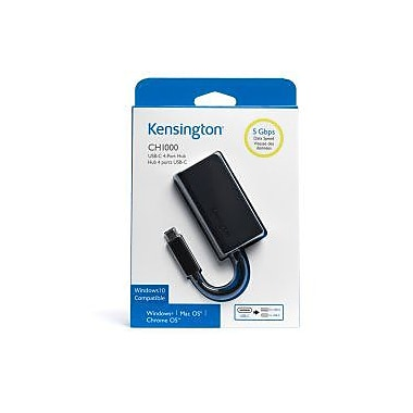 Kensington UC3100 Type C USB Hub, 4-Port