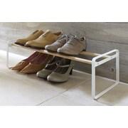 Yamazaki USA Plain 8 Pair Shoe Rack; White