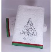 Enchante Home Christmas Tree Bath Towel (Set of 2)