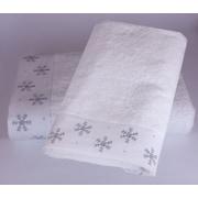 Enchante Home Embroidered Snowflake 2 Piece Towel Set (Set of 2); White