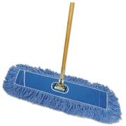 """Boardwalk® Looped-End Dust Mop Kit, 36 X 5, 60"""" Metal/wood Handle, Blue/natural"""
