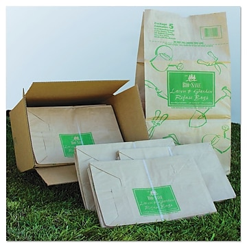 AJM Packaging 30 Gallon All Purpose Standing Bag, Kraft, 50/Box (BAG RBR30105BO)