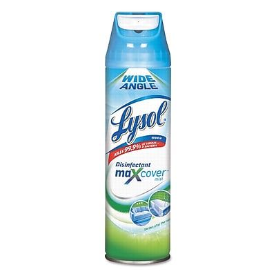 Lysol® Brand Max Cover Disinfectant Mist, Garden After Rain, 15 Oz Aerosol, 12/carton