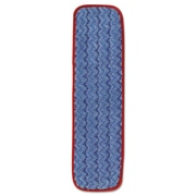 "Rubbermaid® Commercial Microfiber Wet Mopping Pad, 18 1/2"" X 5 1/2"" X 1/2"", Red, 12/carton"
