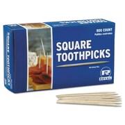 Royal Wood Toothpicks, Wood, Natural, 19200/Carton (RPP R820SQ)