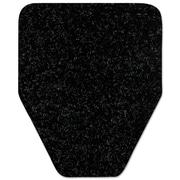 WizKid Antimicrobial Floor Mat, Urinal, 17 X 20 1/2, Black, 48/carton
