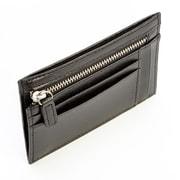Royce Leather RFID Blocking Slim Card Case Wallet in Genuine Leather, Black (RFID-418-BLACK2)