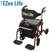Ezee Life CH3025 Combination Rollator Walker, Red