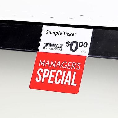 KostklipMD (S124-107138) – Coll. signature « Manager's Special », pancarte ShelfTalkerMC, 1,25x2,5 po, 2/0, 25/paq.