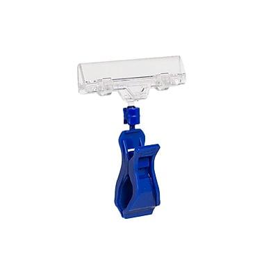 kostklip® – Supports TwistKlips™ à grosse pince et ressorts en plastique, 4 x 3,125 po, transparent/bleu, paq./25 (124E-107255)