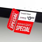 KostklipMD Coll. signature « Manager's Special », pancarte à angle droit ShelfTalkerMC, 1,25 x 2,5 po, 2/2, 25/paq.