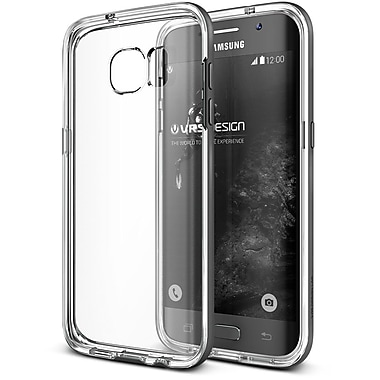 Verus Crystal Bumper GS7 Edge Phone Case, Clear/Grey