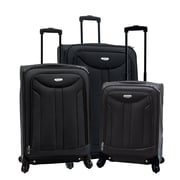 Samboro 3-Piece Spinner Luggage Set, Black