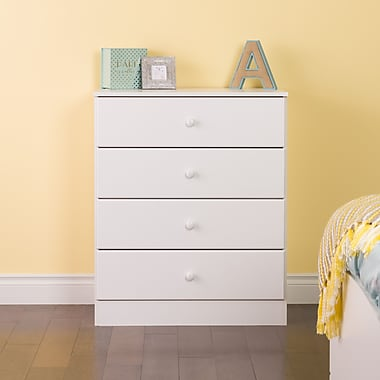 Prepac Astrid 4-Drawer Dresser, White