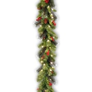 National Tree Co. Pre-Lit 9' x 10'' Crestwood Spruce Garland