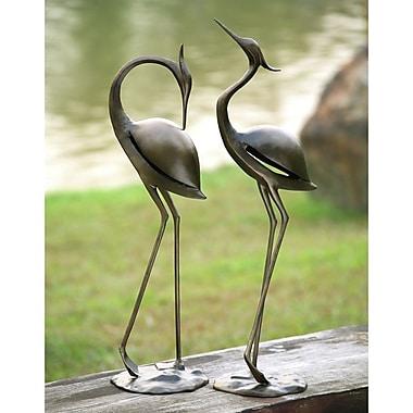 SPI Home Stylized Garden Heron Pair Statue