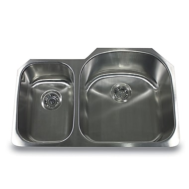 Nantucket Sinks Sconset 31.5'' x 20.75'' Double Basin Undermount Kitchen Sink