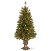 National Tree Co. Atlanta Spruce 4' Green Artificial Entrance Christmas Tree w/ 100 Clear Lights
