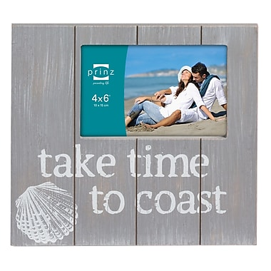 Prinz High Tide 'Take Time To Coast' Picture Frame; Gray