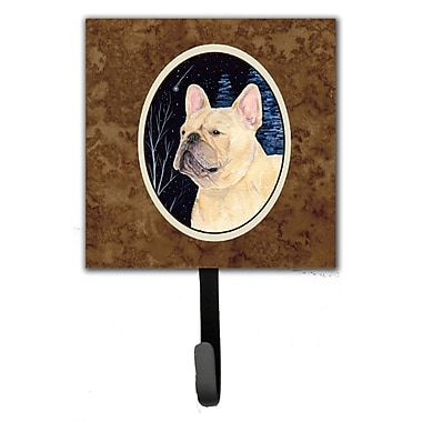 Caroline's Treasures Starry Night French Bulldog Leash Holder and Key Hook