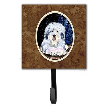 Caroline's Treasures Starry Night Old English Sheepdog Leash Holder and Key Hook