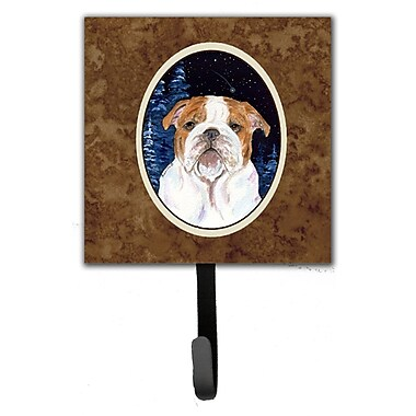 Caroline's Treasures Starry Night English Bulldog Leash Holder and Key Hook