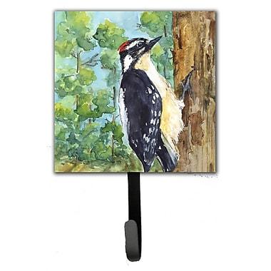 Caroline's Treasures Downy Woodpecker Bird Wall Hook