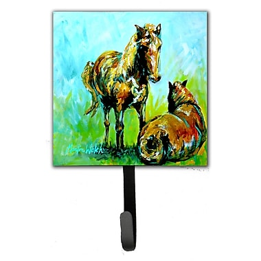 Caroline's Treasures Horse Grazin Leash Holder and Key Hook