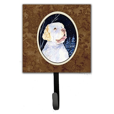 Caroline's Treasures Starry Night Clumber Spaniel Leash Holder and Key Hook