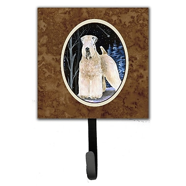 Caroline's Treasures Starry Night Wheaten Soft Coated Terrier Leash Holder and Key Hook